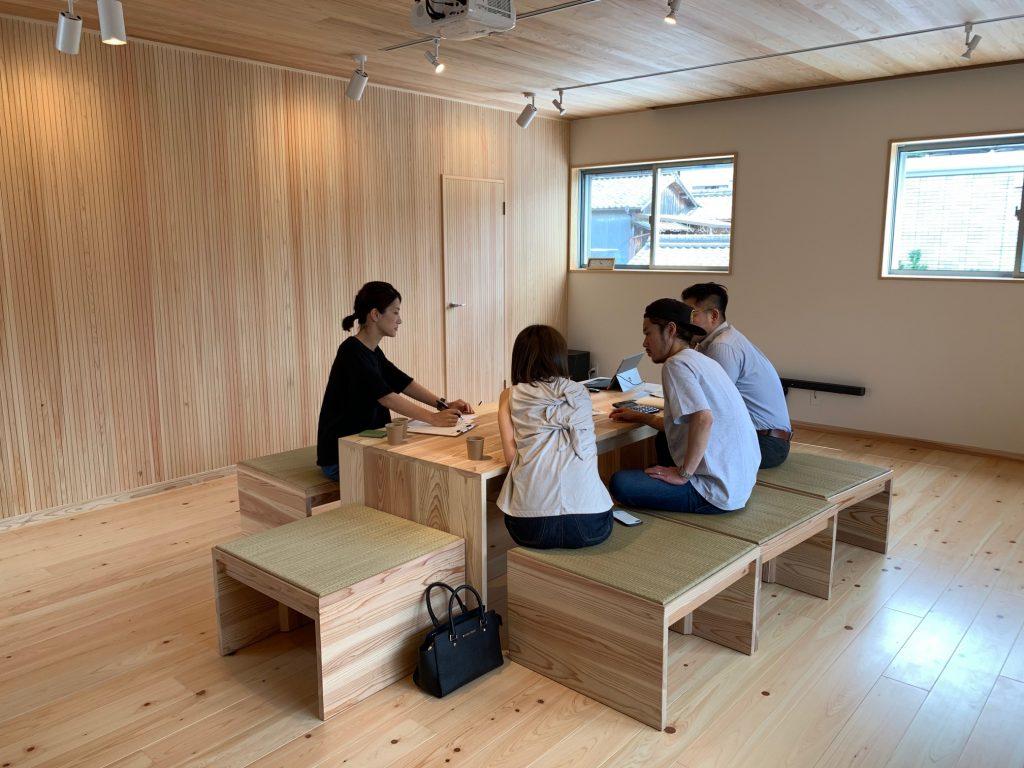設計打合せ 熊野の美容室。