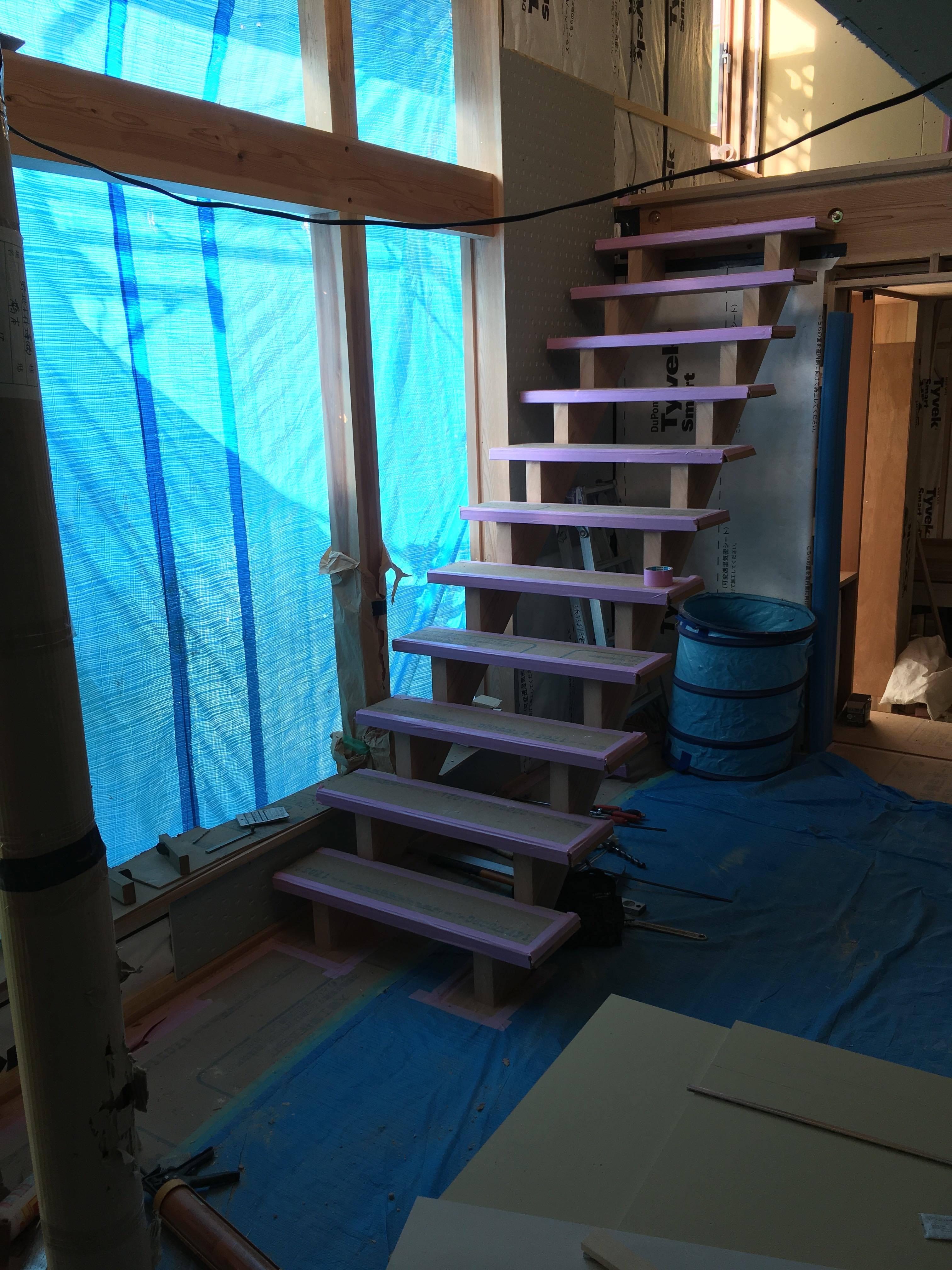 階段施工写真